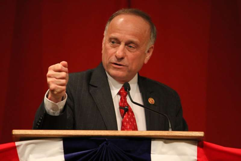 Congressman Steve King at Cerro Gordo GOP event on 3/18/14. Photo credit: Dave Davidson (Prezography.com)