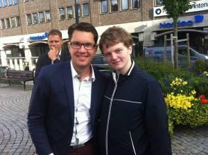 Me together with Sweden Democrat party leader Jimmie Åkesson