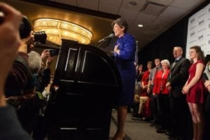 Joni Ernst on Election Night. Source: Joni Ernst's Facebook Page