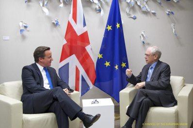 British PM David Cameron (left) with President of the European Union Herman Van Rompuy. Divorce is in the air.hoto credit: President of the European Council via Flickr (Attribution 2.0)