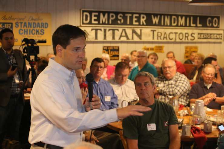 Marco Rubio at Westside Conservative Club on 7-8-15. Photo credit: Dave Davidson (Prezography.com)