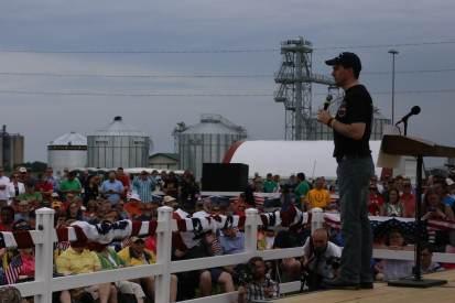 Scott Walker speaks at Joni Ernst's Roast and Ride near Boone, IA on 6/6/15.Photo credit: Dave Davidson (Prezography.com)