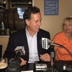 Rick Santorum Holds Pints and Politics in Des Moines (Video)