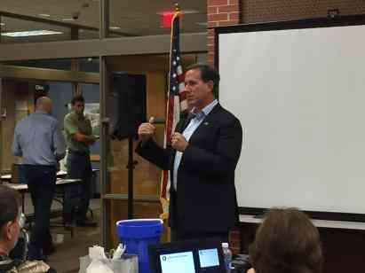 Rick Santorum addressing Polk County Republicans