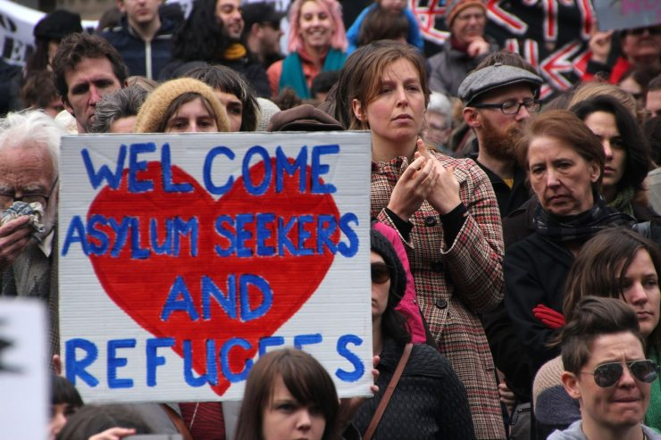 "Are the people who shout ""refugees welcome"" also willing to pay the price? Photo credit: Takver via Flickr"
