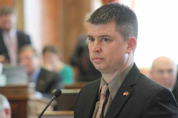 State Rep. Stanerson (R-Center Point) during debate in the Iowa House.Photo credit: Iowa House Republicans