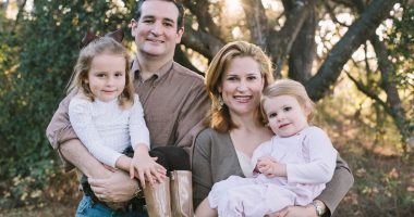 Cruz family portrait (from left): Caroline, U.S. Senator Ted Cruz, Heidi, and Catherine