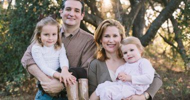 Cruz family portrait (from left): Caroline, U.S. Senator Ted Cruz, Heidi, and Catherine