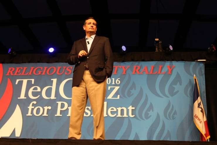 U.S. Senator Ted Cruz (R-TX) speaks at his rally for religious liberty on 8/21/15 in Des Moines.Photo credit: Dave Davidson (Prezography.com)