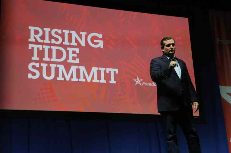 U.S. Senator Ted Cruz (R-TX) at the Rising Tide Summit in Cedar Rapids, IAPhoto credit: Dave Davidson (Prezography.com)
