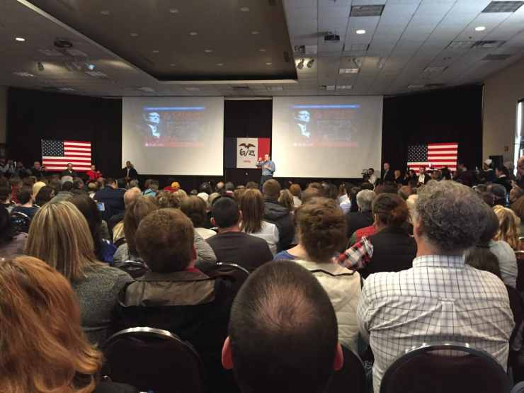 Ted Cruz speaks at the Gateway Hotel & Conference Center in Ames, IA.