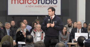 U.S. Senator Marco Rubio (R-FL) holds a town hall meeting in Ankeny, IA.