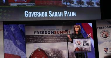 Sarah Palin at Congressman Steve King's Iowa Freedom Summit. Photo credit: Dave Davidson (Prezography.com)