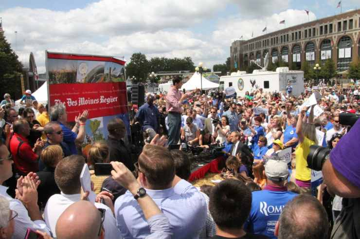 2012 GOP Vice Presidential Nominee Paul Ryan at the Iowa State Fair. Photo credit: Dave Davidson (Prezography.com)