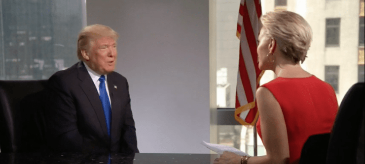 Donald Trump with Megyn Kelly