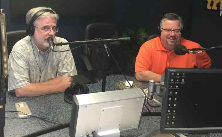 Brian Myers and Shane Vander Hart  in studio.