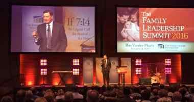 Bob Vander Plaats at the 2016 Family Leadership Summit on 7/9/16 in Des Moines, IA. Photo credit: Kelvey Vander Hart