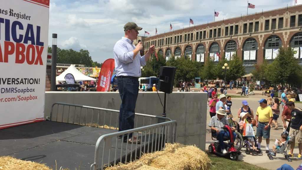 Jim Mowrer at Iowa State Fair