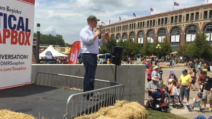 Jim Mowrer at Iowa State Fair