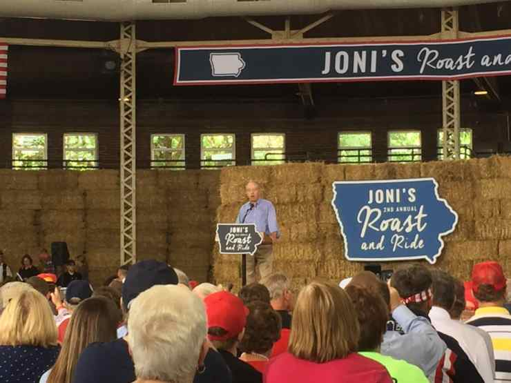 U.S. Senator Chuck Grassley (R-IA) at 2nd Annual Roast and Ride.