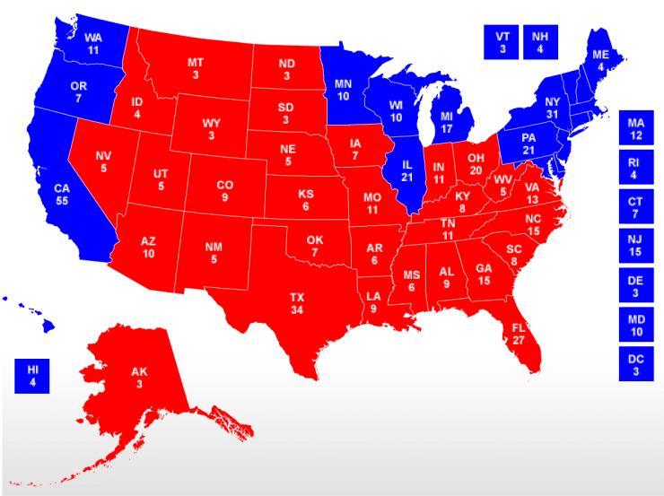 2004 Electoral College Map