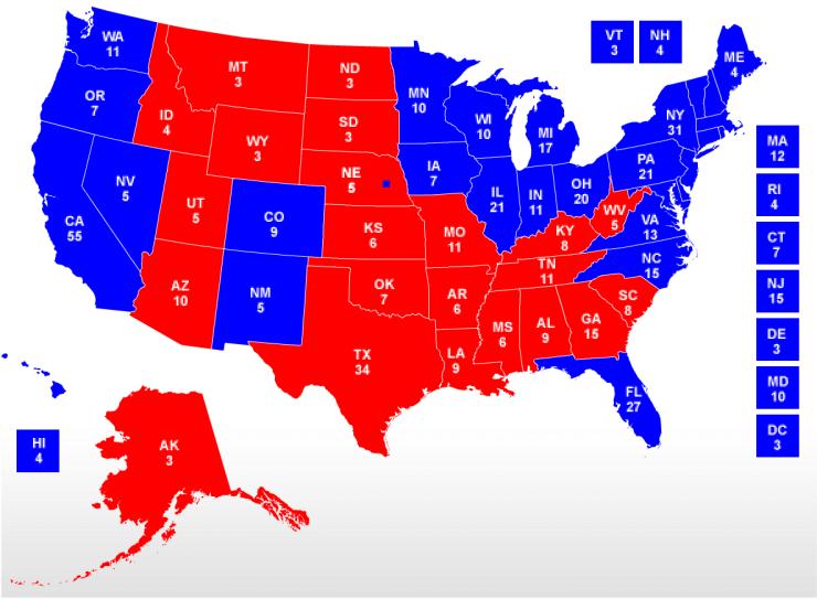 2008 Electoral College Map