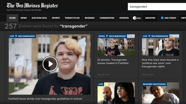 Des Moines Register - Transgender