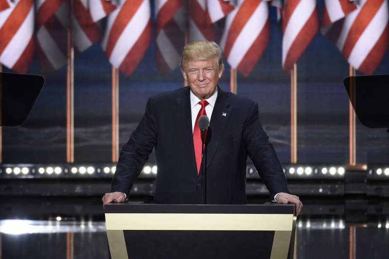 Donald Trump speaks on the final night of the Republican National Convention in Cleveland. Photo credit: ABC/ Ida Mae Astute (CC-By-ND 2.0)