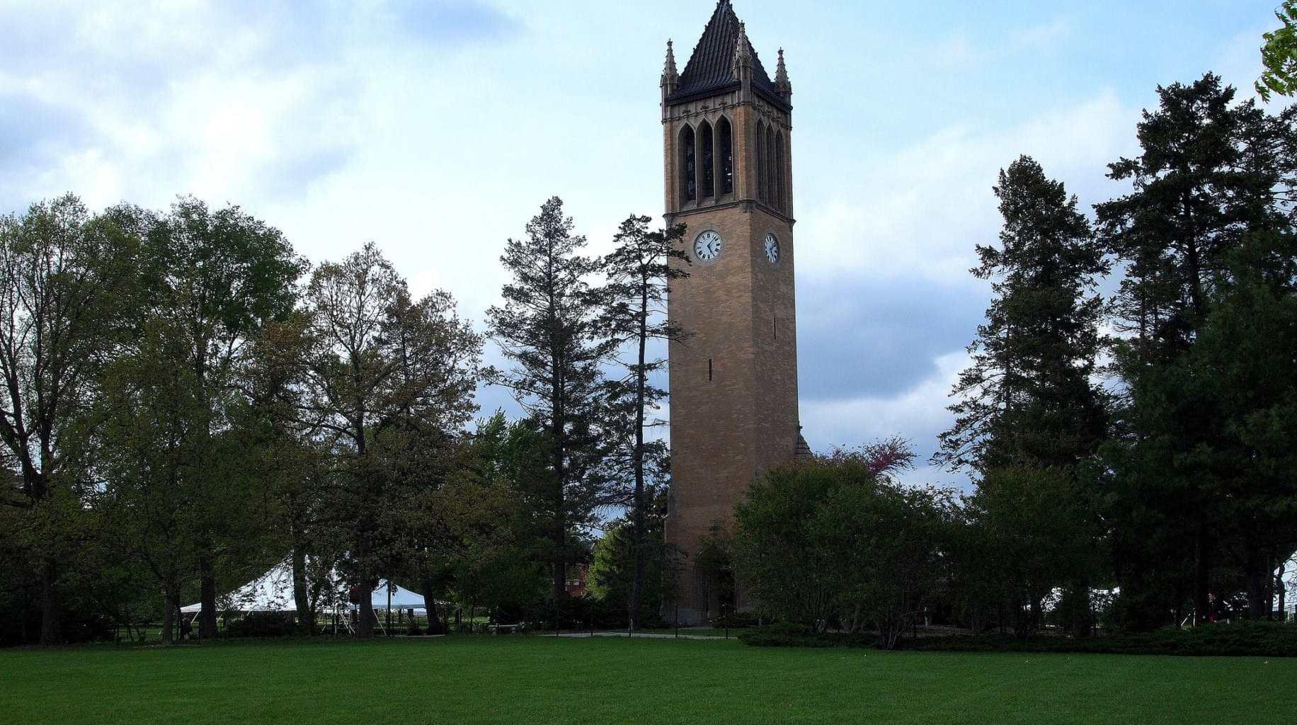 The Campanile at Iowa State University. Photo credit: Joe Wolf