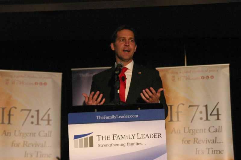 U.S. Senator Ben Sasse (R-NE) speaks at The FAMiLY Leader's Celebrate The Family Banquet on 11/18/17.