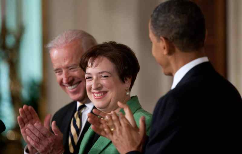 Elena Kagan with President Barack Obama and Vice President Biden after being nominated to the Supreme Court.