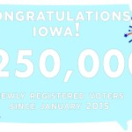 Since 2015, Iowa Surpasses 250,000 Newly Registered Voters