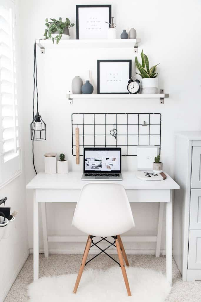 Modern work spaces with plants