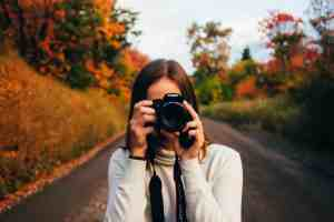 A photograph of a self-motivated photographer