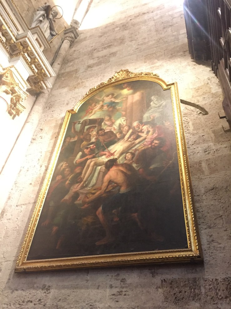 painting, cathedral, valencia, spain