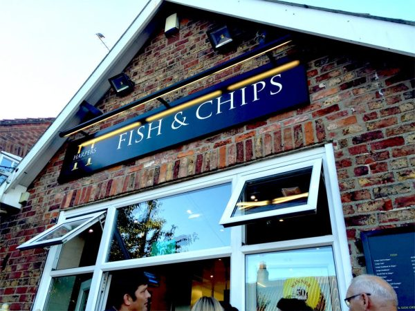 Fish'n'chips in Wetwang, England