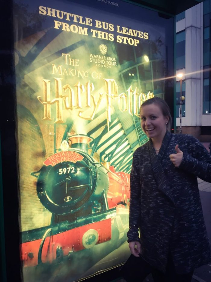 harry potter studio bus stop, london