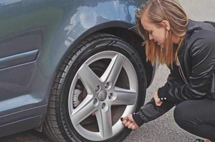 summer car maintenance - checking tyre pressure