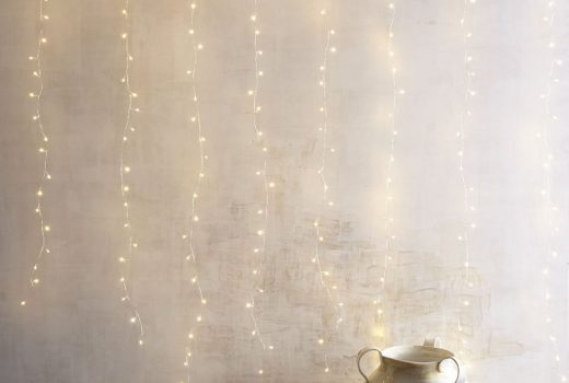 string lights and minimalist decor
