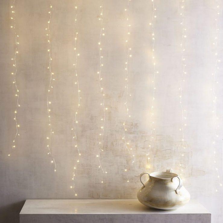 string lights and minimalist decor