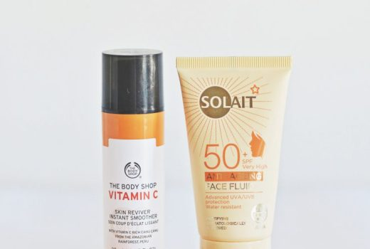 Solait Sunscreen and The Body Shop Vitamin C Line