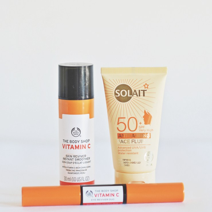 Summer Skin Care - Solait Sunscreen and The Body Shop Vitamin C Line