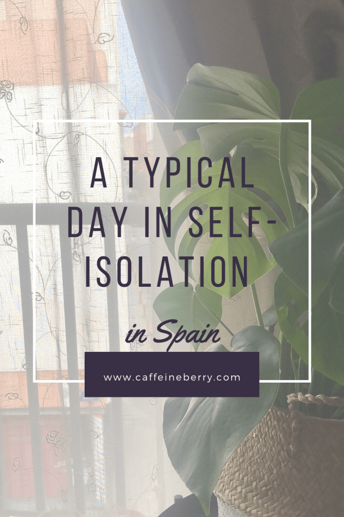typical or average day in self-isolation or quarantine in Spain