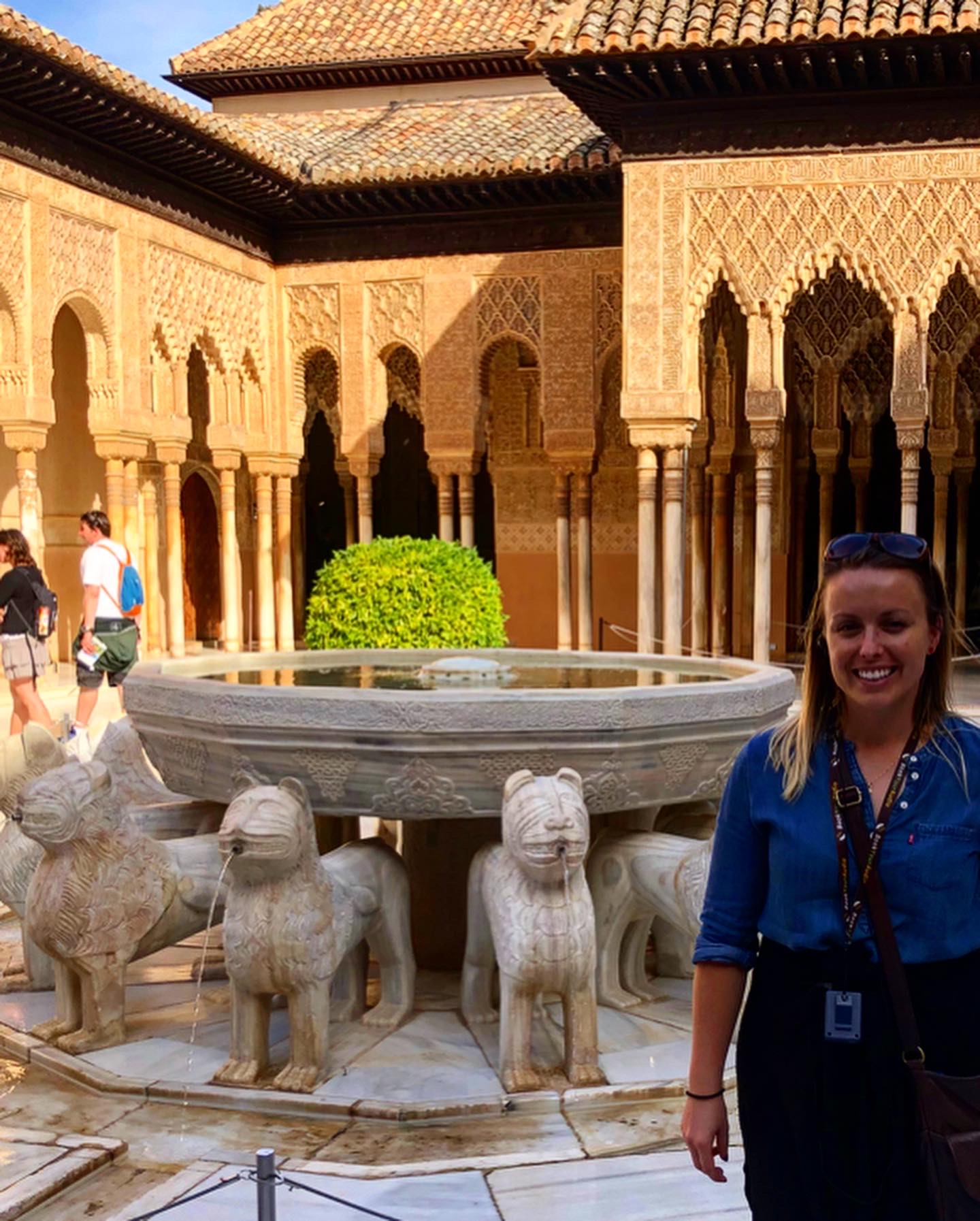 In front of the lions, Alhambra, Granada, Spain