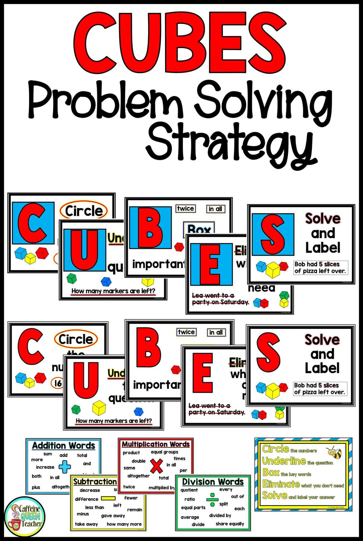 image about Cubes Math Strategy Printable named 2-Digit Multiplication Manufactured Much easier! - Caffeine Queen Instructor