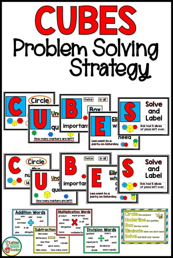 CUBES posters for math problem solving