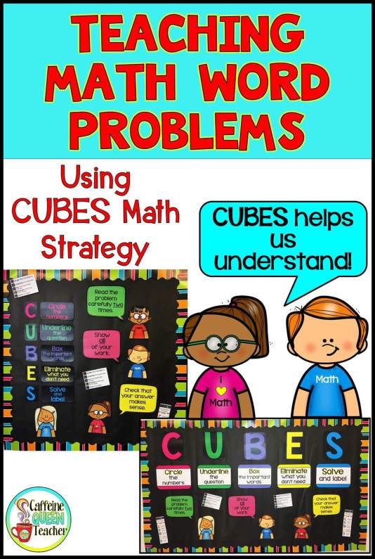 CUBES math strategy for word problems