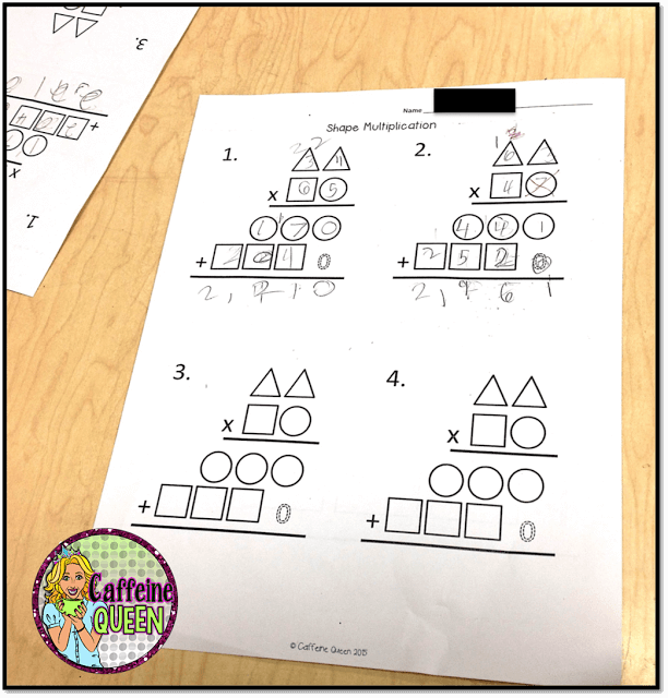 visual multiplication organizer to help students learn 2-digit multiplication