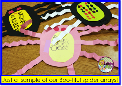Multiplication array crafts for bulletin boards - quick and easy!