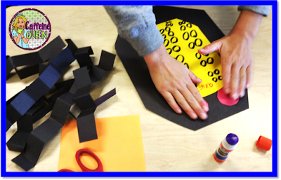 Making multiplication arrays with hands-on craft activities